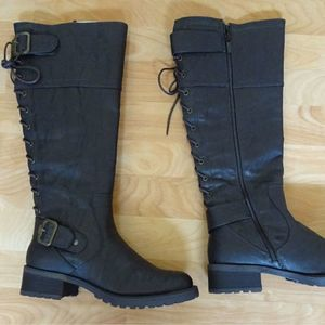 New Wanted Ballard Brown Lace Up Boots 8M
